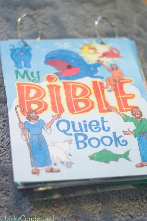 Easy Bible Quiet Book Template