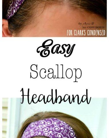 Easy Scallop Headband