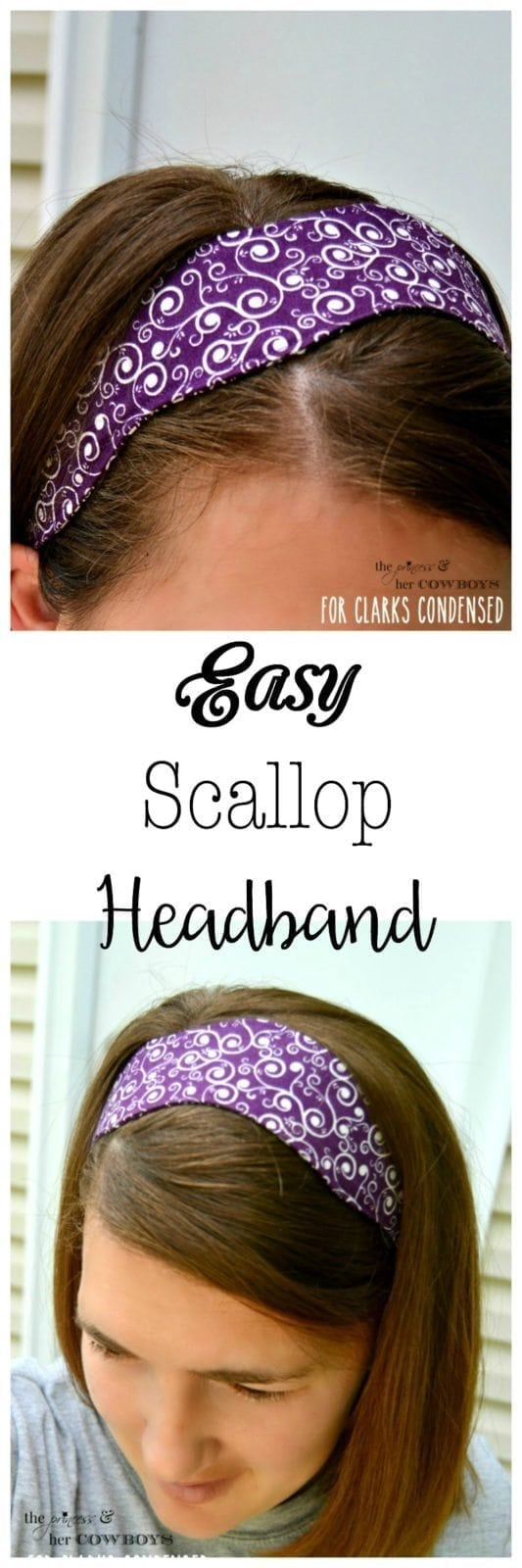 Easy Scallop Headband Tutorial