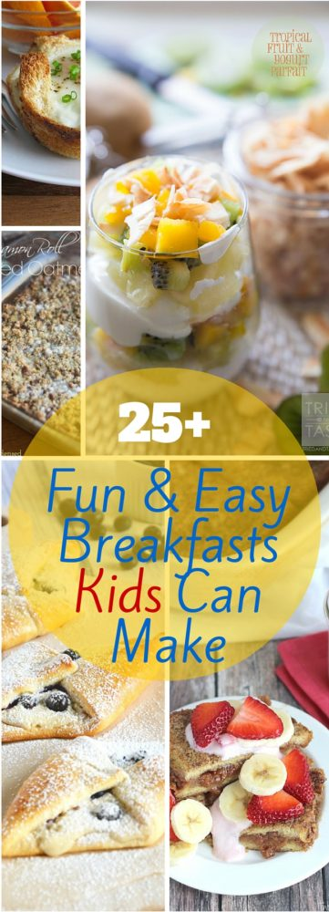 30+ fun and easy breakfasts for kids to make - perfect for Mother or Father's Day! via @clarkscondensed