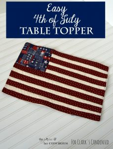 Easy 4th of July Table Topper