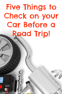Five Things You Must Check Before a Road Trip