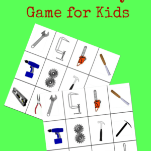 Printable Tools Memory Game for Kids