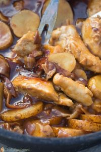 BBQ Dutch Oven Chicken and Potatoes Recipe