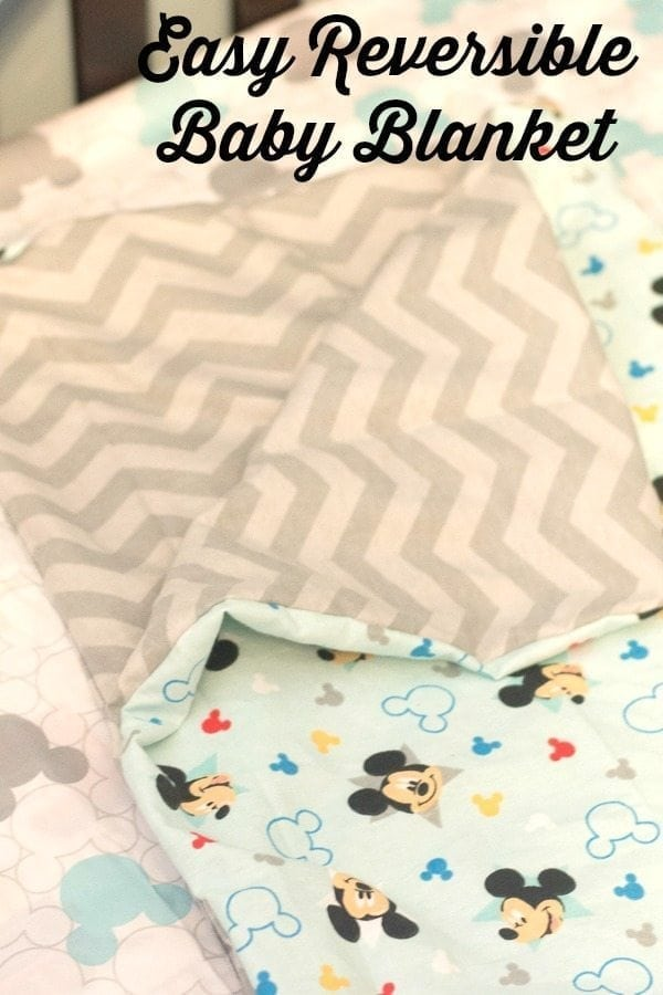 Easy Reversible Baby Blanket Tutorial