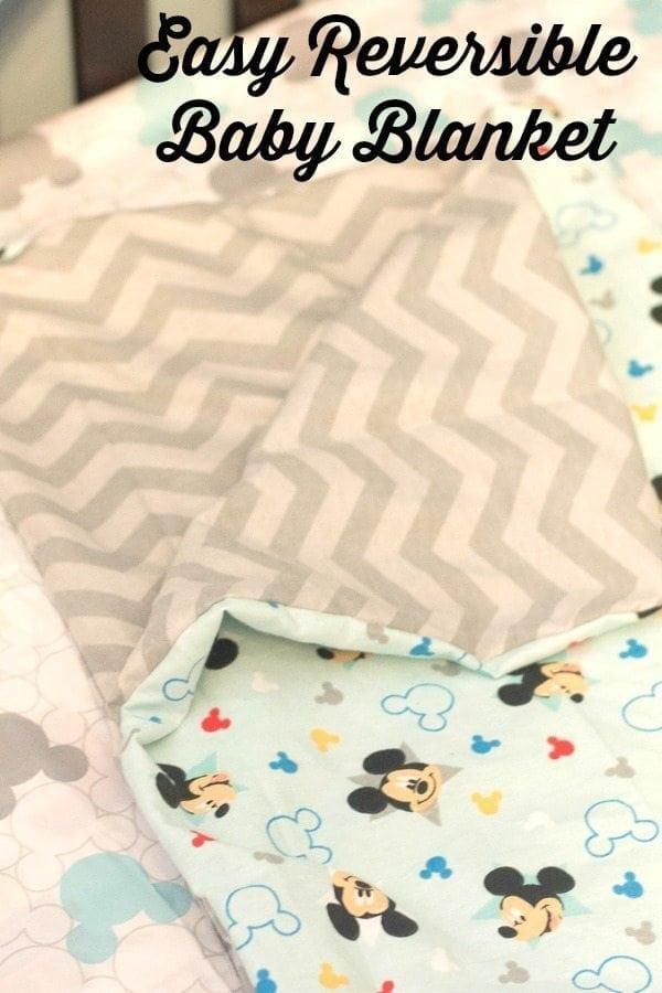 Easy Reversible Baby Blanket Tutorial