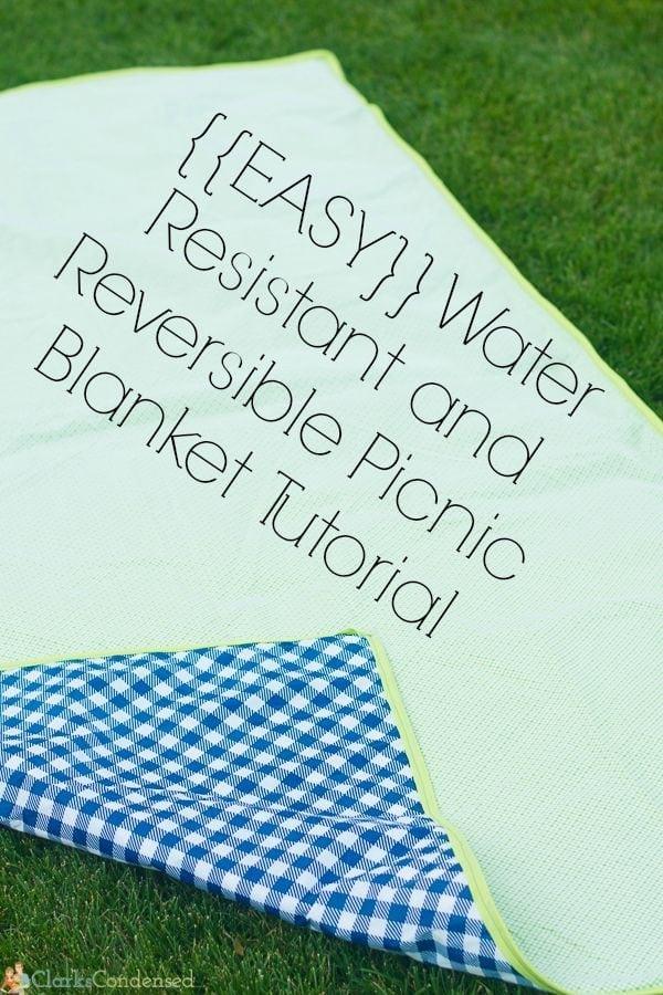 Easy Reversible and Waterproof Picnic Blanket Tutorial