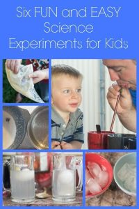 Six Simple Science Experiments for Kids