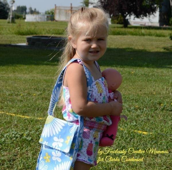 Little Girl DIY Tote Bag Tutorial