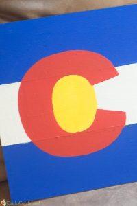 DIY Colorado Flag Wooden Sign