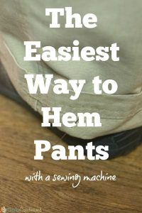 This is seriously the easiest way to hem pants with a sewing machine - it allows you to keep the original hem, and the results are great!