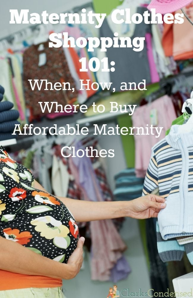 When, Where, and How to Buy Maternity Clothes