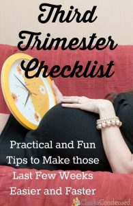 Third Trimester Checklist