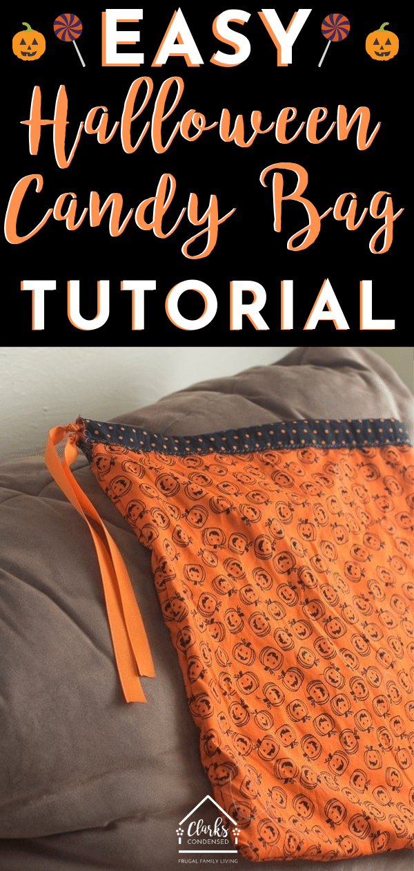 Halloween Treat Bag / DIY Halloween Treat Bag / Treat Bags for Halloween / DIY Candy Bag #halloween #sewing #sewingtutorial via @clarkscondensed
