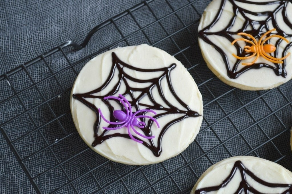 how to make spiderweb cookies