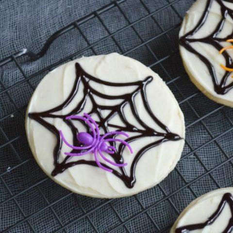 Easy Spiderweb Cookies
