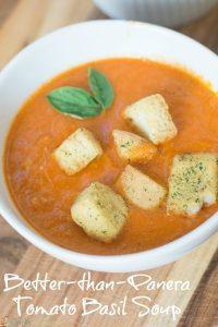 Better-Than-Panera Tomato Basil Soup