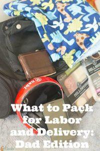 Hospital Bag Packing List for Dad
