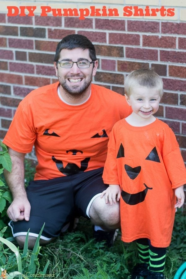 DIY Pumpkin Shirts