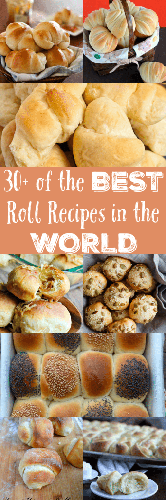 Calling all carb-a-holics! Here are 30+ of the best roll recipes out there - perfect for sopping up soup, lathering up with butter, and eating to your heart's content!