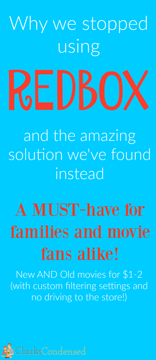 When it comes to returning Redbox movies...we are complete failures. Here's why we stopped using it, and what we are using instead. It's a game changer for movies fans or those who want to watch filtered films...(or not!)
