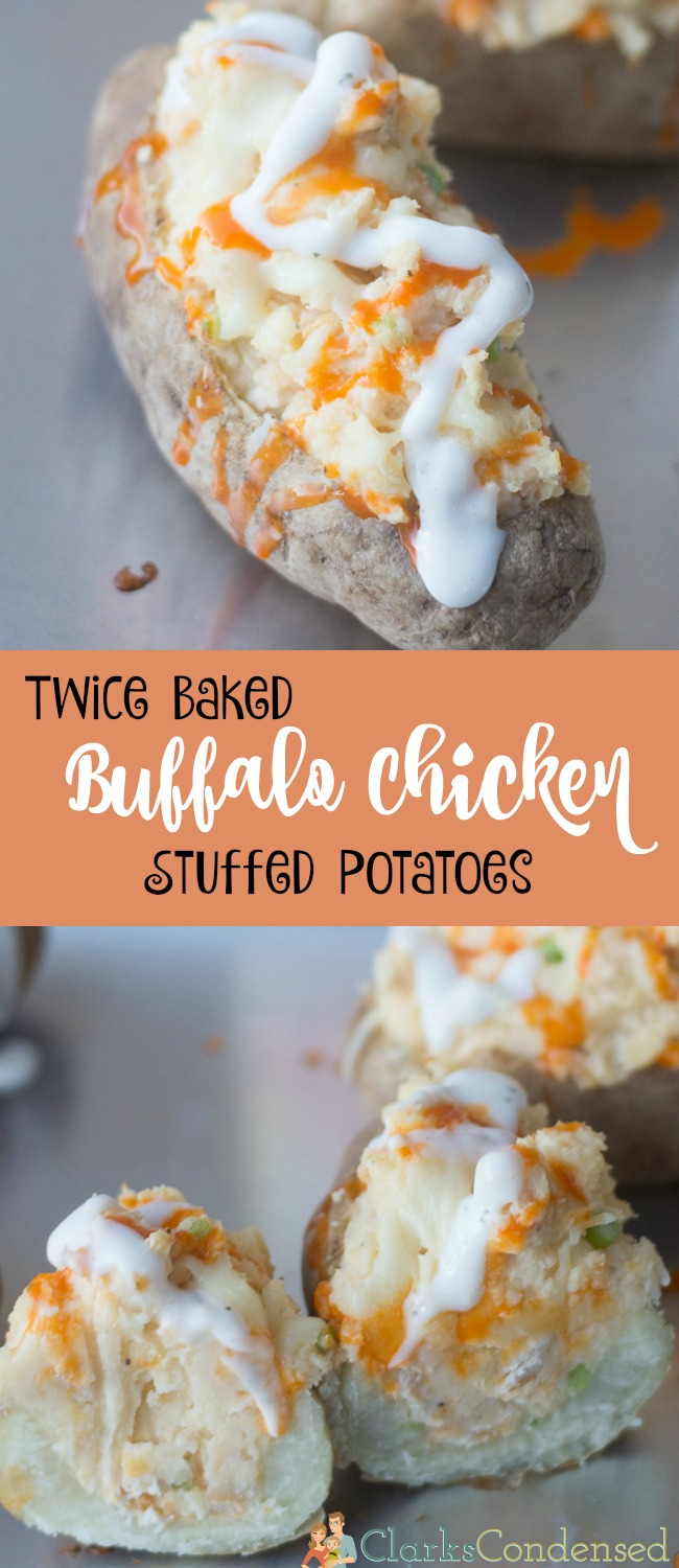 The ultimate potato side dish recipe - we LOVED these buffalo chicken stuffed potatoes. They are so easy to make and super delicious.