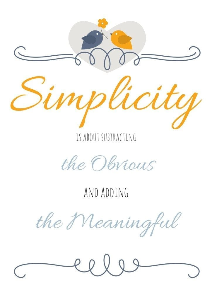 How I'm Simplifying This Year (and Free Printable!)