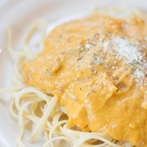 Light and Creamy Pumpkin Alfredo Sauce Recipe