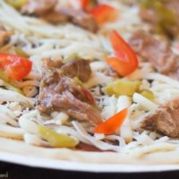 Pulled Pork Green Chile Pizza