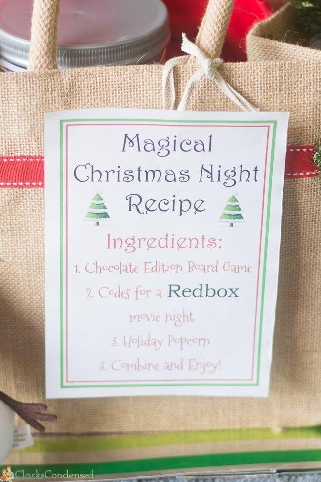 RedBox Movie Night Printable and Gift Idea