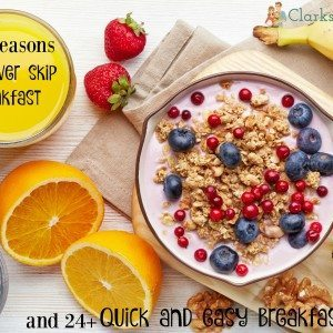 6 Reasons to Never Skip Breakfast & 24+ Quick Breakfast Ideas