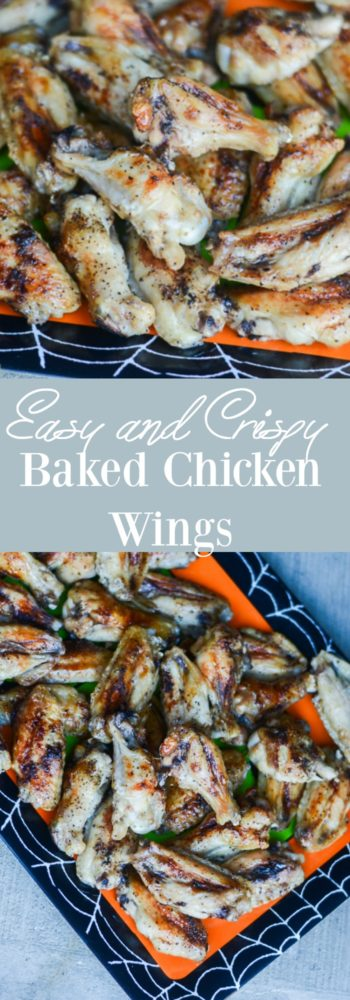 This baked chicken wings recipe is an old family recipe that is crispy and easy. The perfect tailgating recipe!