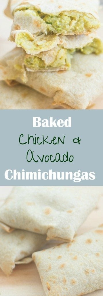 Baked Chicken Avocado Chimichangas