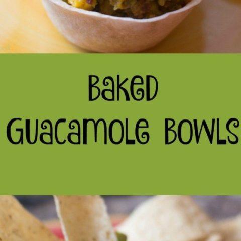 Baked Loaded Guacamole Bowls