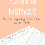10 Easy Meal Planning Methods and Free Meal Planning Printables
