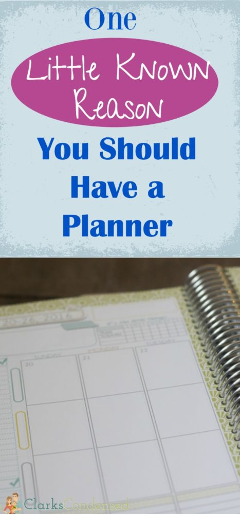 One Little Known Reason Why You Should Have a Planner