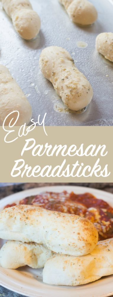My mom's easy parmesan breadsticks always disappear quickly and are perfectly paired with soups, salads, and all types of Italian recipes!