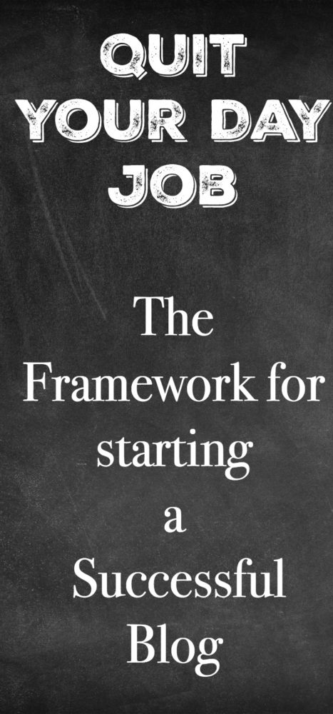 the framework for starting a blog