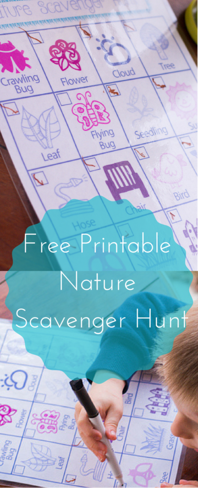 A free printable nature scavenger hunt - this would be such a fun activity for preschools, play groups, or birthday parties! via @clarkscondensed