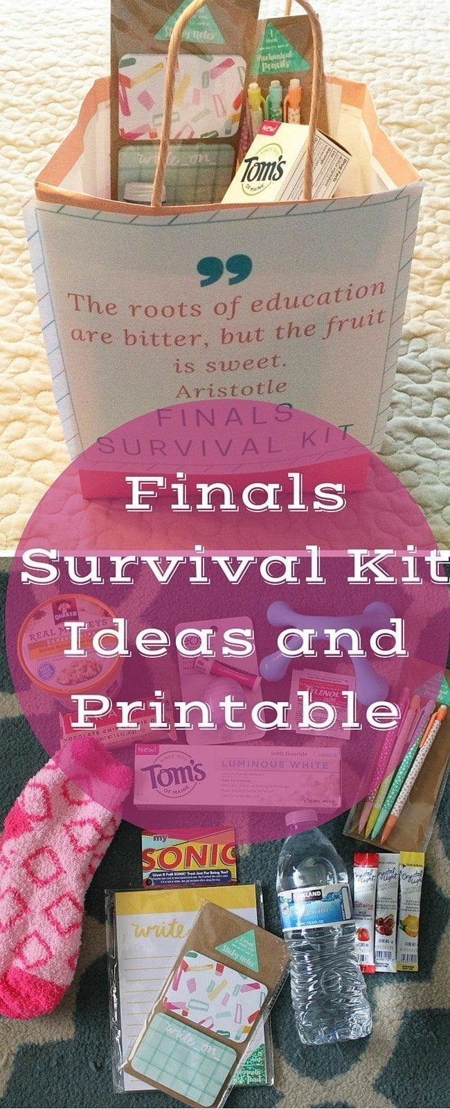 Finals Survival Kit Ideas and Printable