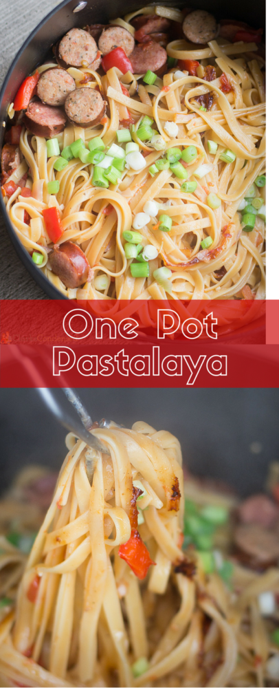 This easy one pot pastalaya has AMAZING cajun flavor and is out of this world delicious.