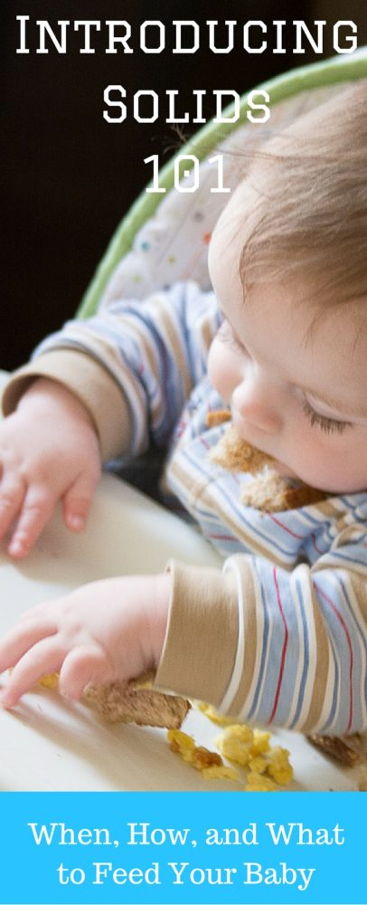 Introducing Solids 101: Everything you need to know about introducing your baby to new foods - first food ideas, how often and how much, and different methods you can use!