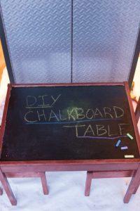 DIY Chalkboard Table Tutorial