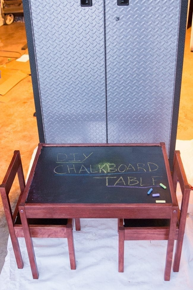 DIY Chalkboard table tutorial - IKEA hack. via @clarkscondensed