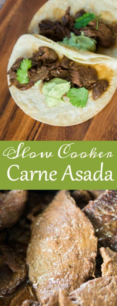 Amazing and delicious slow cooker carne asada recipe. via @clarkscondensed