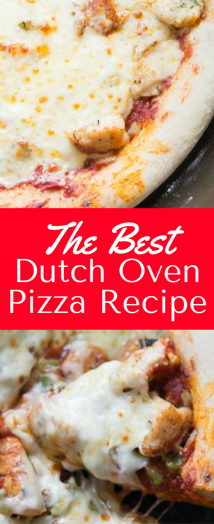 Dutch Oven Pizza / Dutch Oven Pizza Recipe / Outdoor Pizza / Camping Pizza / Pizza Recipe / Pizza Dough / Camping / Dutch Oven Cooking via @clarkscondensed