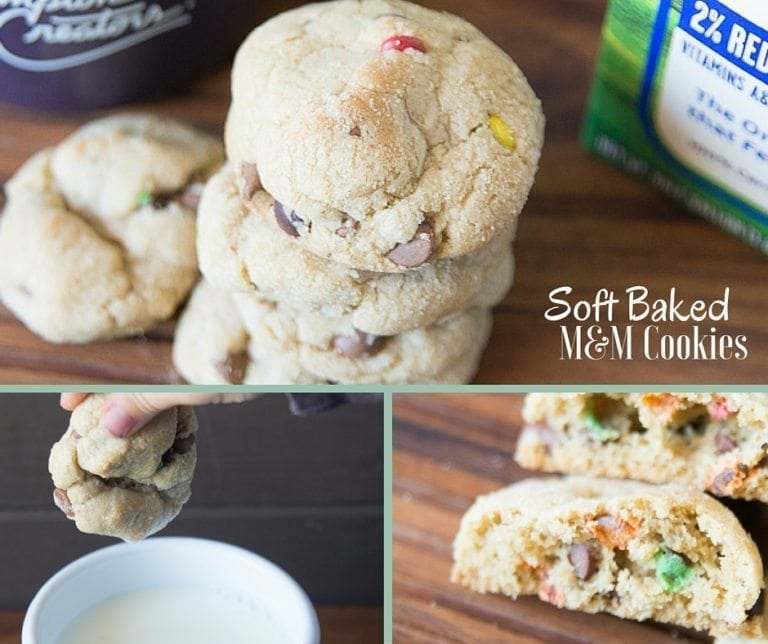 Soft Baked M&M Cookies Recipe