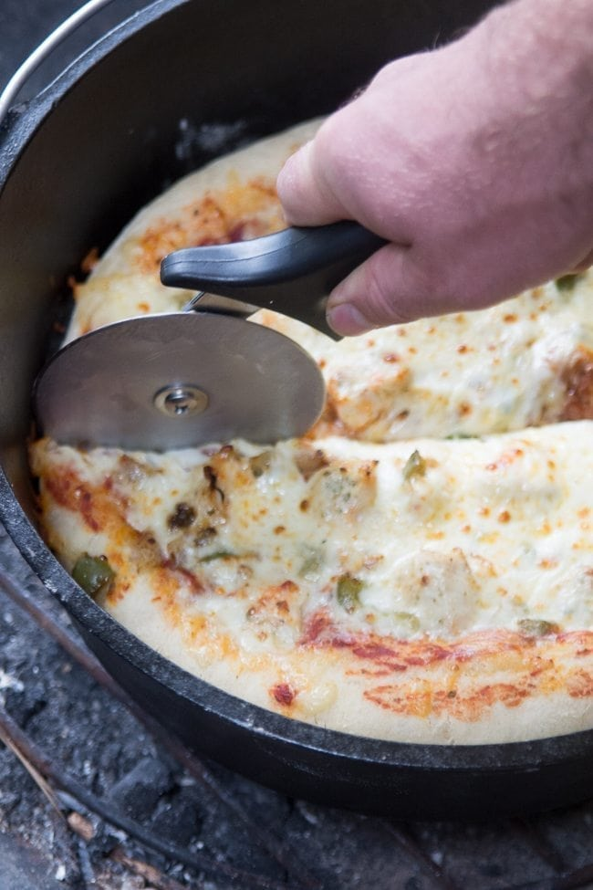 Dutch Oven pizza