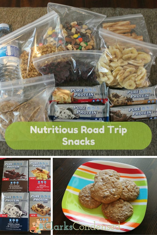 Find a great list of healthy, on-the-go road trip snacks! #ad #keepontrack #collectivebias via @clarkscondensed