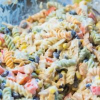 Tex Mex Chicken Pasta Salad